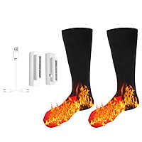 3.7V Heated Socks Foot Warmers for Men And Women, Electric Heating Socks, Washable Battery Heated Socks for Winter