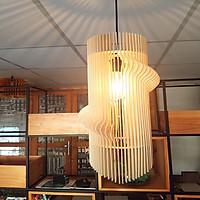 Đèn gỗ trang trí hình xoắn ốc