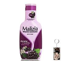 Sữa tắm xạ hương trắng và phúc bồn tử Malizia Bath Foam White Musk 1000ml tặng kèm móc khóa