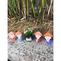 combo bộ tượng cầm kỳ nón cói+ lọ hoa