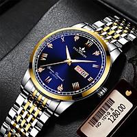 Đồng hồ nam FOuRRON F288 santafe watch 2020 chạy 2 Lịch dây thép không gỉ cao cấp