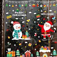 Tranh Decal Dán Kính Trang Trí Cây Thông Giáng Sinh Merry Christmas 03