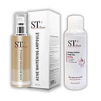 ST Beauty - Tinh Chất Serum Chuyên Ngừa Mụn -  Tặng 1 Gel Rửa Tay Khô Diệt Khuẩn 99.99% - 100ml