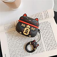 Airpods Pro Case Ốp Bảo Vệ Cho Airpods Pro Mèo May Mắn Lucky _Tặng Kèm Móc Khóa Mèo COn Ngồi Hộp
