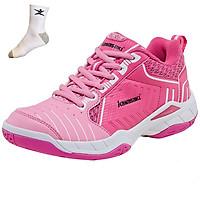 Giày cầu lông nữ Kawasaki phom giày ôm chân, hỗ trợ vận động tốt, đủ size - Tặng kèm tất thể thao Bendu chính hãng