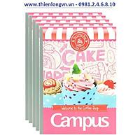 Lốc 5 quyển vở kẻ ngang 80 trang B5 Coffee Shop Campus NB-BCOF80 màu hồng