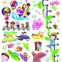 decal hình cắt sẵn dành cho trẻ em
