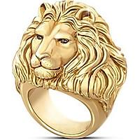 Nhẫn nam titan mạ vàng 24k hình sư tử