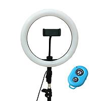 Đèn hỗ trợ Livestream Makeup đường kính 26cm - Tặng kèm Remote Bluetooth (Giao màu ngẫu nhiên)