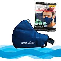 Combo 10 Mặt Nạ - Khẩu trang than hoạt tính NeoVision NeoMask VC65 chuẩn N95 (Thun Qua Gáy)- Chống bụi siêu mịn PM2.5, lọc khuẩn BFE 95% (Được cấp bởi Nelson Lab), kháng khuẩn, chống giọt bắn có thể giặt tái sử dụng nhiều lần-  Xanh đậm