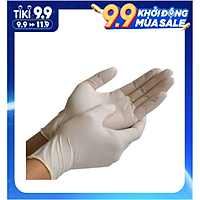 Hộp 100c Găng Tay Cao Su Y Tế An Toàn, Tiết kiệm ( Tặng khăn lau tay ) - Có bột