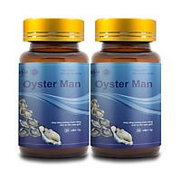 Combo 2 Tinh Chất Hàu Biển OYSTER MAN Cải Thiện Xuất Tinh Sớm, Yếu Sinh Lý (2 Hộp x 30 Viên)