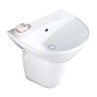Chậu lavabo rửa mặt + chân treo ốp tường  BSA-501 (vòi gắn trên mặt lavabo)