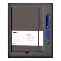 Gift Set Lamy Notebook A5 Softcover Umbra + Lamy Safari Blue - GSNSa0019