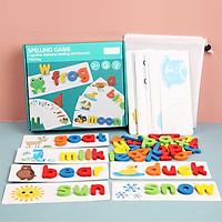 Bộ trò chơi ghép hình đánh vần chữ cái tiếng anh bảng chữ cái nhận biết số cộng, trừ, nhân và chia đồ chơi giáo dục mầm non mẫu giáo - Trẻ em (4-6 tuổi)