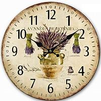 Đồng hồ treo tường Vintage Phong cách Châu Âu size to 30cm DH26 Lavender