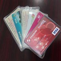 Combo 10 Túi Ví Đựng Bảo Vệ Chống Xước Thẻ ATM, CCCD , Card Visit, Driver License Bằng Lái Xe Trong Suốt Hiệu Hier