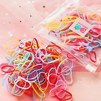 Túi thun cột tóc đàn hồi đa năng kèm túi zip xinh xắn nhiều màu kẹo ngọt tiện lợi cho bé yêu mang đi học – P149