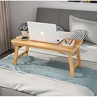 Bàn Gỗ Đa Năng Chân Xếp 40x60cm - Bàn trà chữ nhật sofa/cafe ngồi bệt gấp gọn gỗ tự nhiên đa năng