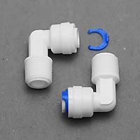 Bộ 2 co cút ren 17 ra dây 10 hoặc dây 6mm nối nhanh – linh kiện máy lọc nước, phun sương, lắp dàn tưới cây, bể thủy sinh, cá cảnh, bán cạn (Hàng chính hãng)