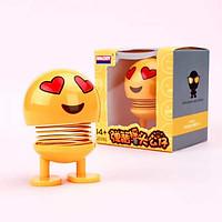 Set 02 Thú nhún lò xo giải trí Emoji- Thú nhún trang trí ô tô - Trang Trí Cảm Xúc Dễ Thương - Giao Ngẫu Nhiên