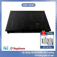 Bếp 3 Âm 2 Từ - 1 Hồng Ngoại Premium Nagakawa NAG1253M (59 cm) - Hàng Chính Hãng
