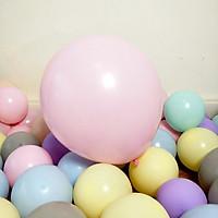 Bong bóng tròn trơn màu Macaron 55cm trang trí sinh nhật ngày lễ