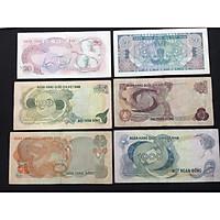 Tiền xưa Việt Nam combo 6 mệnh giá khác nhau trong bộ tiền Hoa Văn, tặng kèm phơi nilong bảo quản