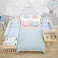 Giường cũi cho bé, cũi kéo dài đa năng tích hợp bàn để sữa, bàn thay tã mẫu mới