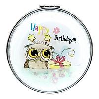 Gương Gấp KT 6512 - Mẫu 3 - Happy Birthday (Mặt Sau Màu Nâu)