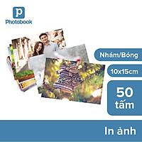 """Voucher dịch vụ 50 tấm ảnh 4"""" x 6"""" (10x15cm) giấy bóng/ giấy mờ theo yêu cầu - Tự thiết kế trên ứng dụng Photobook"""