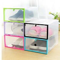 Combo 4 hộp đựng giày gấp gọn ( màu ngẫu nhiên)