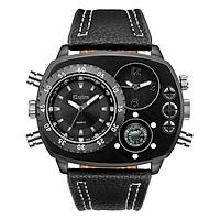 Casual Square Dial Watch Wide Strap Luxury Quartz Watch Men's Watch Oversized Men's Watch