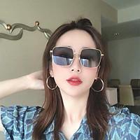 Kính mát thời trang Unisex cao cấp gọng vuông chống tia UV kiểu dáng Retro Hàn Quốc - Kính râm nữ 009-2