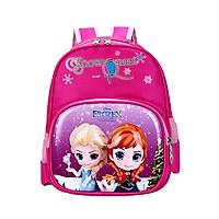 Balo học sinh tiểu học, Balo trẻ em cao cấp in hình 3D Elsa cho bé gái
