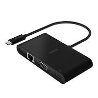 Hub USB Type-C  Belkin chia 5 cổng USB-A 3.0/VGA/HDMI 4K/LAN Ethernet Gigabit/USB-C + Sạc PD 100W - AVC004btBK - Hàng chính hãng