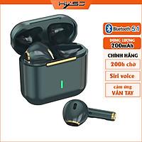 Tai Nghe True Wireless Smart Touch Bluetooth V5.1 điều khiển cảm ứng hỗ trợ nghe đơn hoặc đôi 2 bên tai với micro HD chống ồn dành cho smartphones - Hàng Chính Hãng