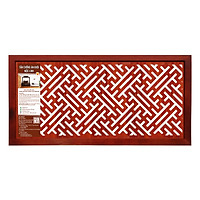 Tấm chống ám khói Mộc Linh TCAKLNV (41x81) chữ Vạn màu nâu