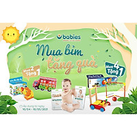 Tã bỉm Babies Organic Việt M54(6kg-11kg) L50(9-14kg) XL46(12-17kg) XXL40>15kg