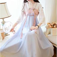 Đầm cổ trang hán phục nữ trung hoa đầm hottrend của nữ sinh vải Voan cực chất