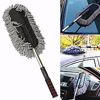 Chổi nano sợi dầu lau rửa xe ô tô chuyên dụng - cán kéo dài đầu dẹp