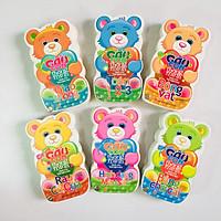 Combo 6 cuốn: Gấu Con Thông Minh: Toán 1 - 2 - 3 + Hình dạng, mầu sắc + Giao Thông + Rau Củ Quả + Bảng Chữ Cái