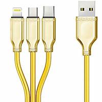 Cáp 3 đầu BYZ công suất 3.1 A cho 3 cổng Type C-Lightning-Micro USB hàng nhập khẩu
