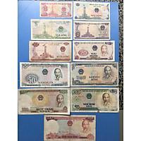Đủ bộ tiền giấy Việt Nam bao cấp 1981, 11 mệnh giá đầy đủ sưu tầm