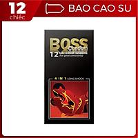 Bao Cao Su Boss 12s 4in1 Nhiều gai gân Kéo Dài Thời Gian