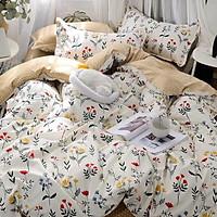 Bộ ga và chăn chần cotton Sweet Love FSL1138 ( 5 món )