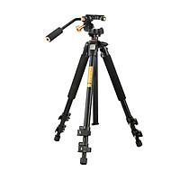 Chân máy Tripod quay phim QZSD Pro BK-Q08S đầu quay siêu mượt - Hàng chính hãng