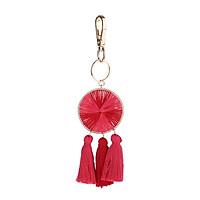 Tassel Pendant Key Chain Keyring Fringe Lady Bag Purse Car Keyrings Ornaments for Health and Wealth Hanging Decoration
