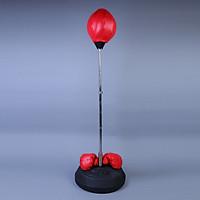 Combo Bóng phản xạ lắc lư + Găng tay boxing+ Bơm chuyên cho dân phòng tập
