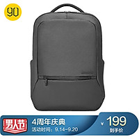 90 points daily commuter backpack laptop bag 15.6-inch backpack waterproof shock absorption business casual bag graphite black